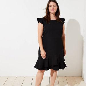 Ann Taylor LOFT Wrap Around Flounce Dress